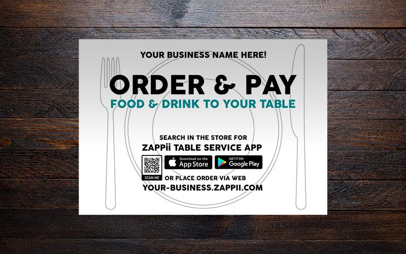 Table service solution banner